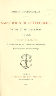 Cover of: Saint John de Crèvecoeur