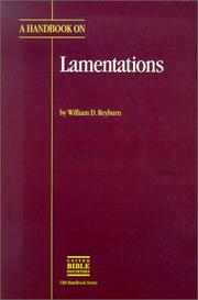 Cover of: A handbook on Lamentations