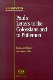 Cover of: A handbook on Paul