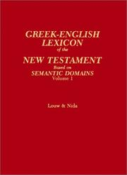 Cover of: Greek-English lexicon of the New Testament |