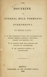Cover of: The Doctrine of eternal hell torments overthrown | Richardson, Samuel