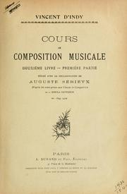 Cover of: Cours de composition musicale by Vincent d' Indy