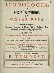 Cover of: Iconologia, or, Moral emblems | Cesare Ripa