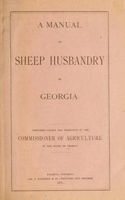 A manual of sheep husbandry in Georgia.