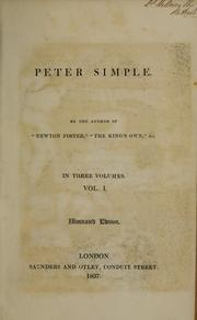 Cover of: Peter Simple | Frederick Marryat