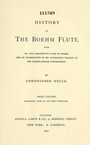 Cover of: History of the Boehm flute
