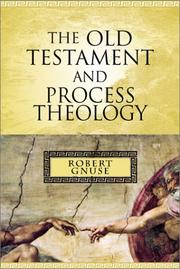 Cover of: The Old Testament and Process Theology