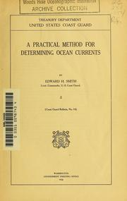 Cover of: A practical method for determining ocean currents | Edward Hanson Smith