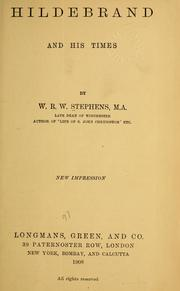 Cover of: Hildebrand and his times | W. R. W. Stephens