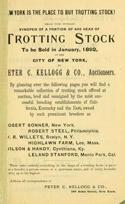 Cover of: Trotting stock at auction | Peter C. Kellogg & Co. (New York, N.Y.)