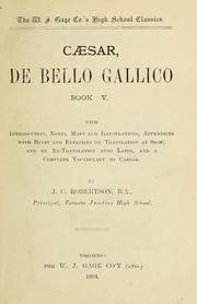 Caesar De Bello Gallico Book V Edition Open Library