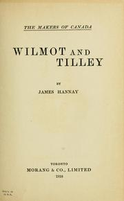 Cover of: Wilmot and Tilley