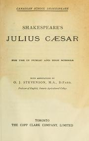 Cover of: Shakespeare's Julius Caesar for use in public and high schools