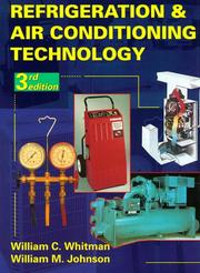 Cover of: Refrigeration and air conditioning technology