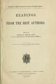 Cover of: Readings from the best authors / edited by Archd. H. Bryce ; for the use of schools in North America |