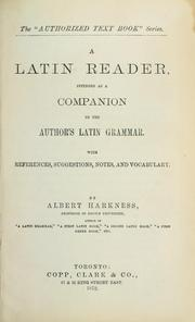 Cover of: A Latin Reader Intended as a Companion to the Author