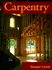 Cover of: Carpentry