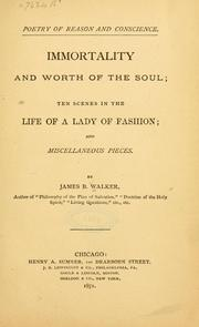 Cover of: Poetry of reason and conscience. | James Barr Walker