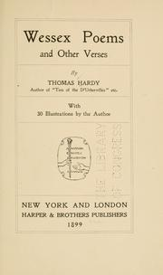 Cover of: Wessex poems and other verses by Thomas Hardy