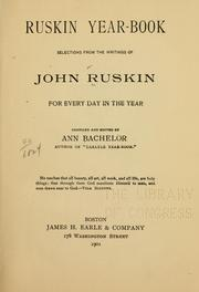 Cover of: Ruskin year-book by John Ruskin