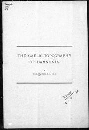 The Gaelic topography of Damnonia by Neil Macnish