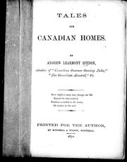 Cover of: Tales for Canadian homes | Andrew Learmont Spedon