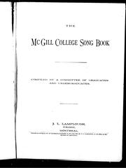 Cover of: The McGill College song book | McGill University.
