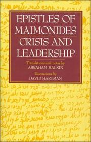 Cover of: Epistles of Maimonides: crisis and leadership