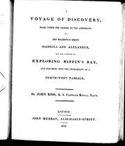 Cover of: A voyage of discovery | Sir John Ross