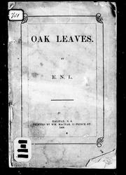 Cover of: Oak leaves | E. N. Lockerby-Bacon