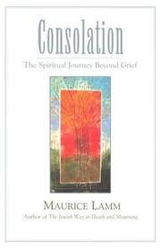 Cover of: Consolation: The Spiritual Journey Beyond Grief