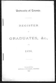 Register of graduates, &c., for 1890 by
