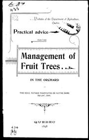 Practical advice for the management of fruit trees by G. Reynaud