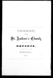 Cover of: Reports | Unionists from St. Andrew