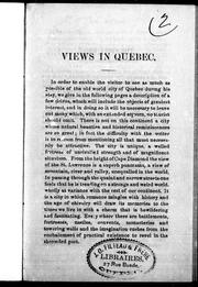 Cover of: Views in Quebec |