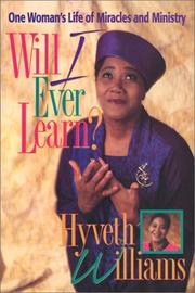 Cover of: Will I ever learn?