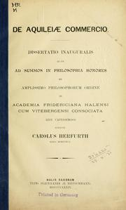 Cover of: De Aquileiae commercio by Carl Herfurth