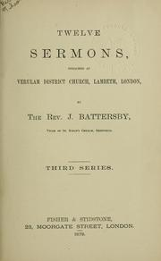Cover of: Sermons. | J. Battersby