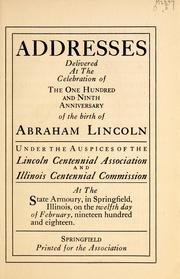 Cover of: Addresses | William Renwick Riddell
