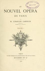 Cover of: Le nouvel Opéra de Paris