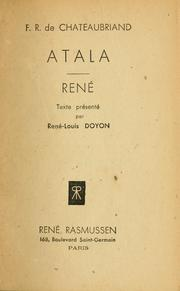 Cover of: Atala. René by François-René de Chateaubriand