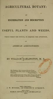 Cover of: Agricultural botany | William Darlington