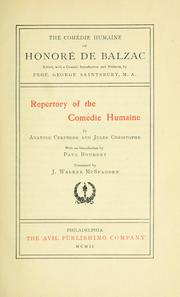 Cover of: Repertory of the Comédie humaine