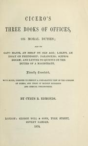 Cover of: Cicero's three books Of offices by Cicero
