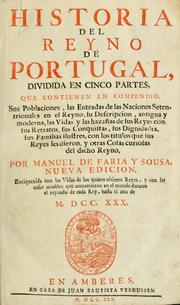 Cover of: Historia del reyno de Portugal