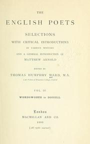Cover of: The English poets | Thomas Humphry Ward