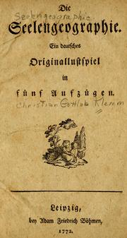 Cover of: Die Seelengeographie