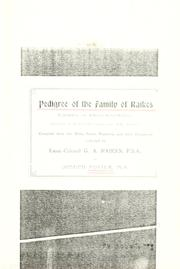 Cover of: Pedigree of the family of Raikes