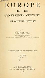 Cover of: Europe in the nineteenth century | Lipson, E.