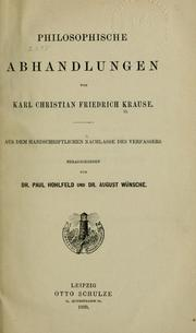 Cover of: Philosophische Abhandlungen